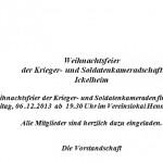 20131206_Krieger_u_Soldatenkameradschaft_Weihnachtsfeier