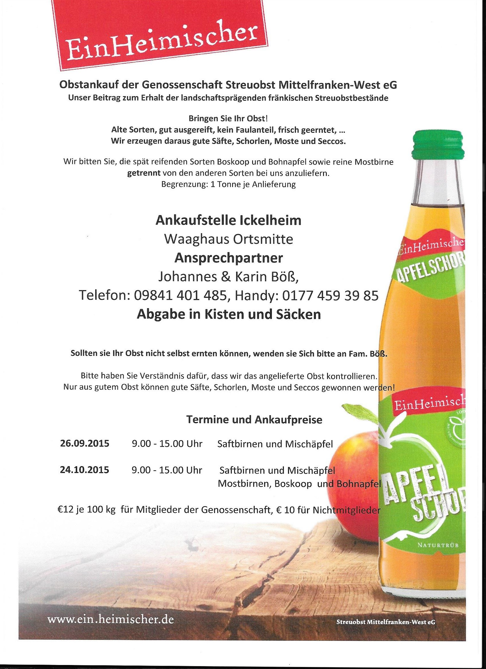 Flyer Streuobst 2015