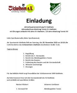 SV Ickelheim JHV Einladung