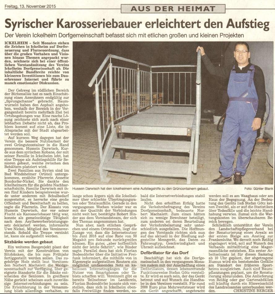 20151113_WZ_Ickelheim_DG_ Syrischer Karrosseriebauer erleichtert den Aufstieg